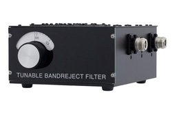 3 Section Tunable Band Reject Filter With N Female Connectors Operating From 100 MHz to 200 MHz With a 1% Bandwidth