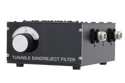 3 Section Tunable Band Reject Filter With N Female Connectors Operating From 250 MHz to 500 MHz With a 1% Bandwidth