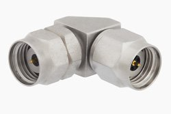 1.85mm Male to 2.4mm Male Right Angle Adapter