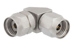 1.85mm Male to 2.92mm Male Right Angle Adapter