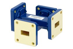 WR-51 50 dB Waveguide Crossguide Coupler, Square Cover Flange, 15 GHz to 22 GHz