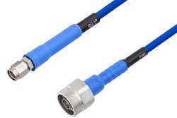 PE-TC195 Series Phase Stable Test Cable SMA Male to N Male to 18 GHz  ,RoHS