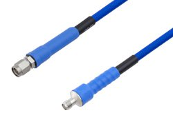 PE-TC195 Series Phase Stable Test Cable SMA Male to SMA Female to 27 GHz  ,RoHS