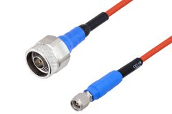 PE-TC151 Series Phase Stable Test Cable SMA Male to N Male to 18 GHz  ,RoHS