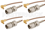SMA Male to MMCX Plug Right Angle Cable Assemblies