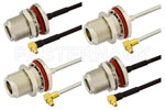 Type N Female to MMCX Plug Right Angle Cable Assemblies