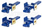 Waveguide Crossguide Coupler with Termination and Coax Adapter Assemblies WR-112