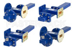 Waveguide Crossguide Coupler with Termination and Coax Adapter Assemblies WR-137