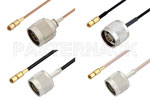 SSMC Plug to Type N Male Cable Assemblies