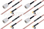 M39012/56-3109 to M39012/01-0503 Cable Assembly with M17/60-RG142 High-Reliability MIL-SPEC RF Series