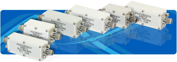 Bandpass Filter With SMA Female Connectors Operating From 3300 MHz To 3700 MHz With a 400 MHz Passband