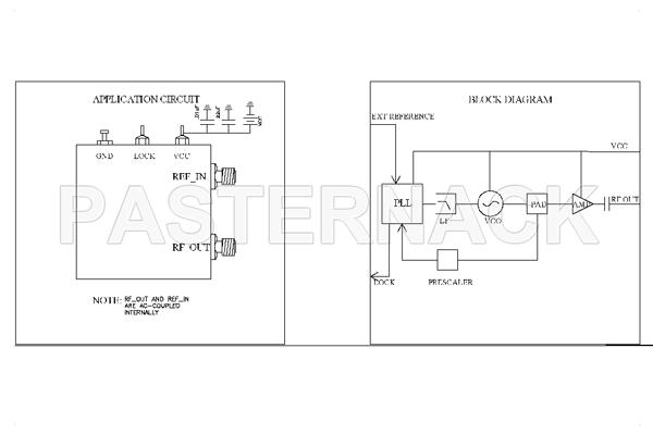 1,000 MHz Phase Locked Oscillator, 10 MHz External Ref., Phase Noise -105 dBc/Hz, SMA