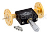 WR-19 Waveguide Continuously Variable Attenuator, 0 to 30 dB, From 40 GHz to 60 GHz, UG-383/U-Mod Round Cover Flange, Dial