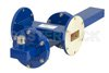 WR-137 Waveguide 40 dB Crossguide Coupler, UG-344/U Round Cover Flange, N Female Coupled Port, 5.85 GHz to 8.2 GHz, Bronze