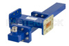 WR-137 Waveguide 30 dB Crossguide Coupler, CPR-137G Flange, N Female Coupled Port, 5.85 GHz to 8.2 GHz, Bronze