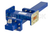WR-137 Waveguide 40 dB Crossguide Coupler, CPR-137G Flange, N Female Coupled Port, 5.85 GHz to 8.2 GHz, Bronze