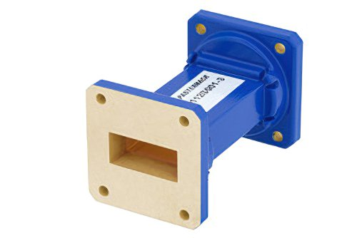 WR-112 Commercial Grade Straight Waveguide Section 3 Inch Length with UG-51/U Flange Operating from 7.05 GHz to 10 GHz