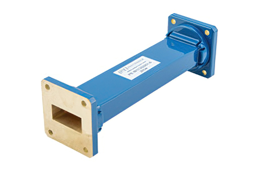 WR-112 Commercial Grade Straight Waveguide Section 6 Inch Length with UG-51/U Flange Operating from 7.05 GHz to 10 GHz