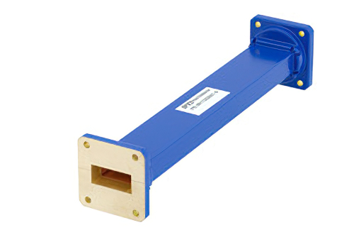 WR-112 Commercial Grade Straight Waveguide Section 9 Inch Length with UG-51/U Flange Operating from 7.05 GHz to 10 GHz