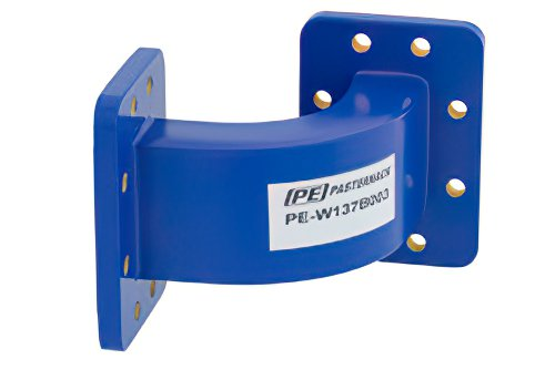 WR-137 Commercial Grade Waveguide E-Bend with CPR-137G Flange Operating from 5.85 GHz to 8.2 GHz