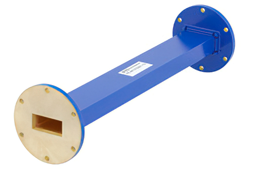 WR-137 Commercial Grade Straight Waveguide Section 12 Inch Length with UG-344/U Flange Operating from 5.85 GHz to 8.2 GHz