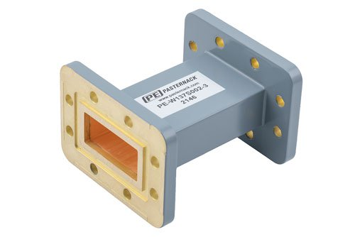 WR-137 Commercial Grade Straight Waveguide Section 3 Inch Length with CPR-137G Flange Operating from 5.85 GHz to 8.2 GHz