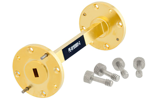 WR-19 Instrumentation Grade Straight Waveguide Section 3 Inch Length with UG-383/U-Mod Flange Operating from 40 GHz to 60 GHz