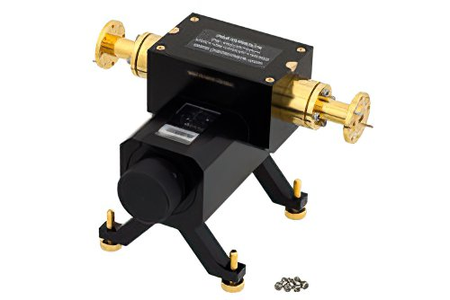 0 to 50 dB Waveguide Direct Read Attenuator, WR-22, From 33 GHz to 50 GHz, UG-383/U Flange
