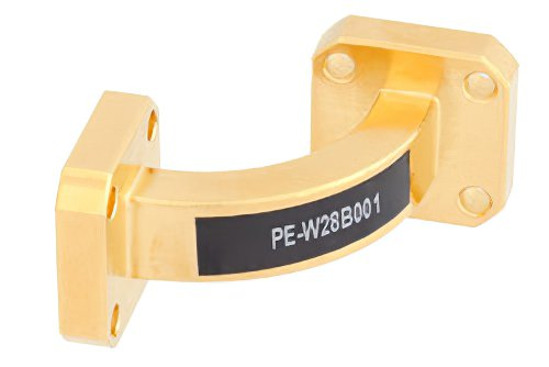 WR-28 Instrumentation Grade Waveguide E-Bend with UG-599/U Flange Operating from 26.5 GHz to 40 GHz
