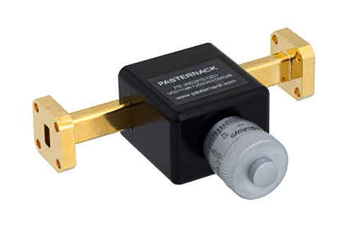 0 to 180 Degree WR-28 Waveguide Phase Shifter, From 26.5 GHz to 40 GHz, With a UG-599/U Flange