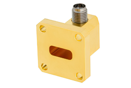 WR-42 UG-595/U Square Cover Flange to 2.92mm Female Waveguide to Coax Adapter Operating From 18 GHz to 26.5 GHz, K Band