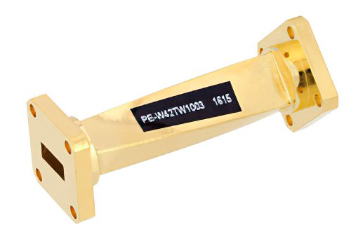 WR-42 45 Degree Right-hand Waveguide Twist With a UG-595/U Flange Operating From 18 GHz to 26.5 GHz