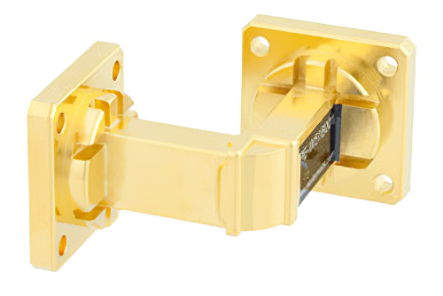 WR-51 Instrumentation Grade Waveguide E-Bend with UBR180 Flange Operating from 15 GHz to 22 GHz