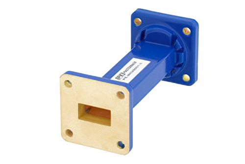 WR-62 Commercial Grade Straight Waveguide Section 3 Inch Length with UG-419/U Flange Operating from 12.4 GHz to 18 GHz