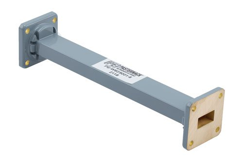 WR-62 Commercial Grade Straight Waveguide Section 6 Inch Length with UG-419/U Flange Operating from 12.4 GHz to 18 GHz