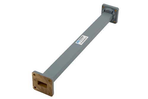 WR-62 Commercial Grade Straight Waveguide Section 9 Inch Length with UG-419/U Flange Operating from 12.4 GHz to 18 GHz