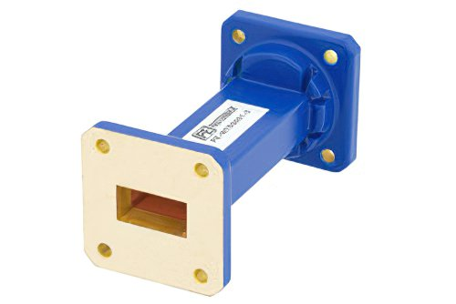 WR-75 Commercial Grade Straight Waveguide Section 3 Inch Length with UBR120 Flange Operating from 10 GHz to 15 GHz
