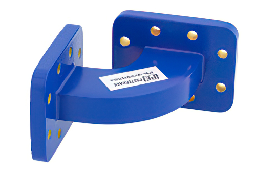 WR-90 Commercial Grade Waveguide H-Bend with CPR-90G Flange Operating from 8.2 GHz to 12.4 GHz