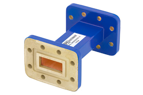 WR-90 Commercial Grade Straight Waveguide Section 3 Inch Length with CPR-90G Flange Operating from 8.2 GHz to 12.4 GHz