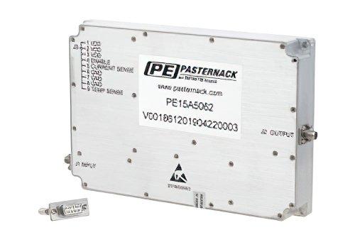 47 dB Gain, 50 Watt Psat, 800 MHz to 4.2 GHz, High Power GaN Amplifier, SMA, Class AB