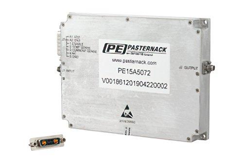 46 dB Gain, 40 Watt Psat, 8 GHz to 12 GHz, High Power GaN Amplifier, SMA, Class AB