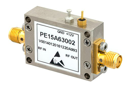 39 dBm IP3, 1.6 dB NF, 22 dBm P1dB, 30 MHz to 1.5 GHz, Input Protected Low Noise Amplifier, 25 dB Gain, SMA