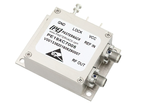 500 MHz Phase Locked Oscillator, 100 MHz External Ref., Phase Noise -110 dBc/Hz, SMA