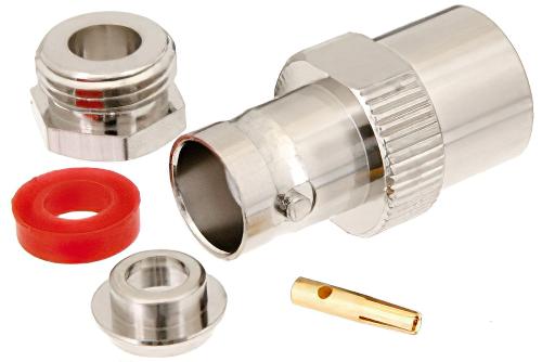 N Female Plug Crimp connector RG58 RG142 RG400 LMR195 RG223 RF Connector NFRG58