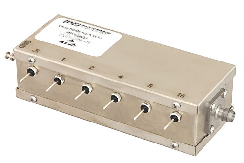6 Bit Relay Controlled Programmable Attenuator, 31.5 dB Up to 1,000 MHz, 0.5 dB Steps, +12V, SMA Female