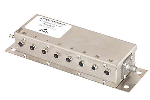 8 Bit Relay Controlled Programmable Attenuator, 63.75 dB Up to 2 GHz, 0.25 dB Steps, +12V, SMA Female