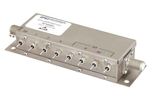 8 Bit Relay Controlled Programmable Attenuator, 127 dB Up to 1,000 MHz, 75 Ohm, 1 dB Steps, +12V, F Female