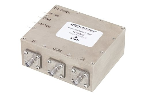 SPDT PIN Diode Switch Operating From 20 MHz to 2.5 GHz Up to 25 Watts (+44 dBm) and SMA