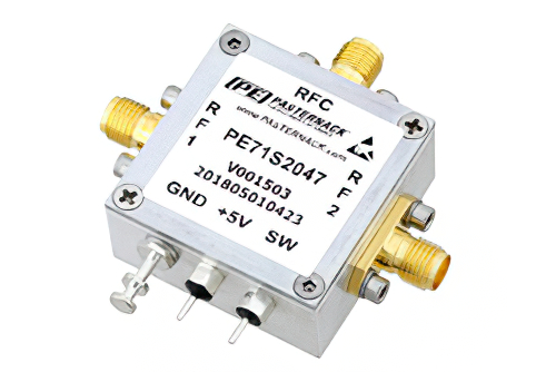 SPDT PIN Diode Switch Operating from 30 MHz to 530 MHz Up to 5 Watts (+37 dBm) and SMA
