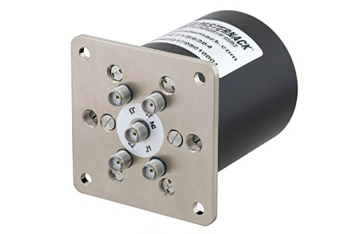 SP4T Electromechanical Relay Latching Switch, Terminated, DC to 18 GHz, up to 90W, 12V, SMA